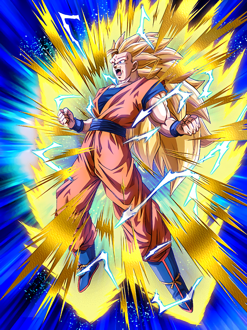Stunning metamorphosis super saiyan 3 goku dragon ball z dokkan battle wikia fandom powered - Sangoku super sayen 6 ...