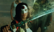 Katana holds up her sword