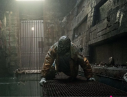 Killer Croc in his cell