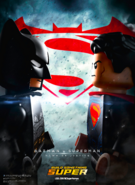 Batman v Superman Dawn of Justice LEGO theatrical poster