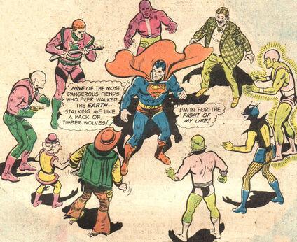 Luthor mxyzptlk terra-man brainiac toyman prankster parasite amalak superman299