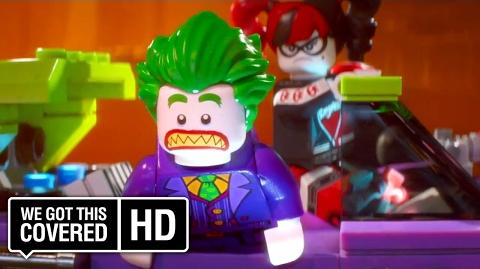"The LEGO Batman Movie ""Batman Fights Joker"" Clip HD Rosario Dawson, Ralph Fiennes, Will Arnett"