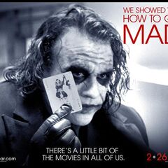 The Joker on the Academy Awards poster.