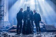 Armored Batman smiles