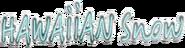 Hawaain Snow Schriftzug