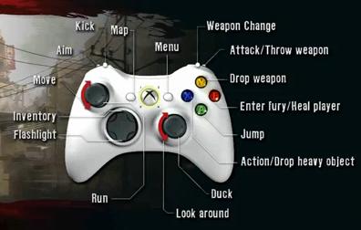Escape Dead Island Controls Xbox