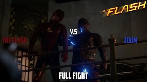 The Flash V.S ZOOM FULL FIGHT!(Zoom Breaks Barry's Back)(Season 2 Episode 6)