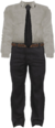 Dead rising White Dress Shirt, Black Tie, and Grey Dress Pants
