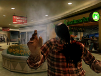 Dead rising zombies burnt by frying pan