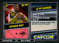 Dead rising 2 combo card Spiked Bat