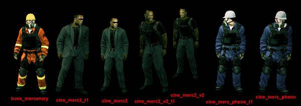 Mercenaries list all 7