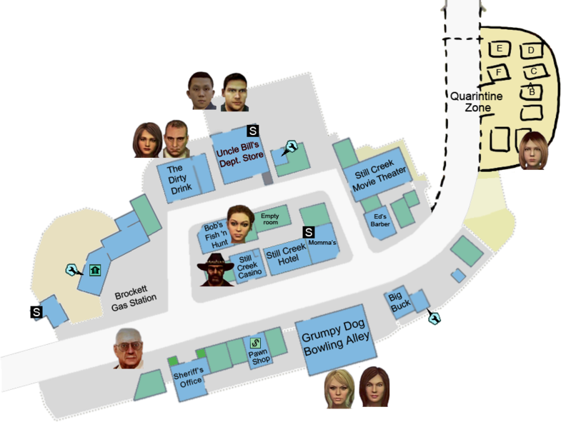 Case 0 map survivors