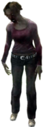 Dead rising zombies thin bronette red blouse
