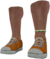 Dead rising Orange Lowtops with White Pearl Anklet