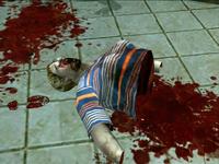 Dead rising battle axe sliced zombie