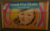 Kids Small Fry Duds Poster with PP Sticker