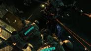 Alien necromorph attacking