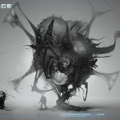 Concept art of a Necromorph boss