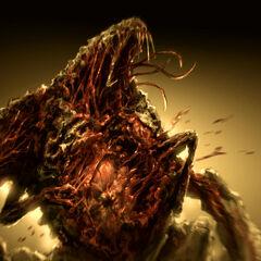 Некроморф открывает свою брюшную полость, высвобождая взрывоопасный заряд