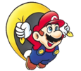 Super Mario Brothers - Mario with the Cape Feather as seen in Super Mario World