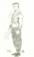 Mortal Kombat - First MK related sketch of Yoshitsune Minamoto (now Liu Kang) by John Tobias