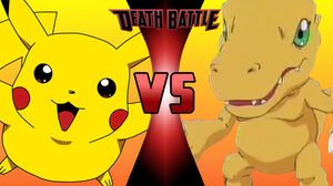 Pikachu vs Agumon 2