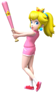 Super Mario Brothers - Princess Peach when playing baseball
