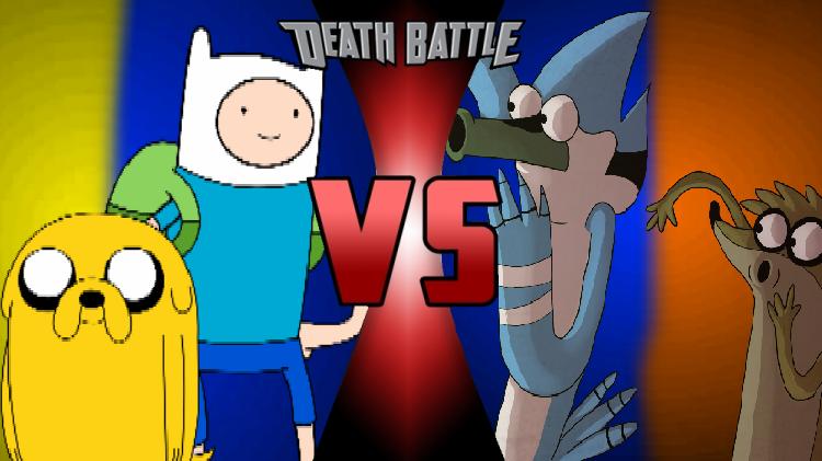 Finn Jake vs Mordecai Rigby Finn e Jake vs Mordecai e