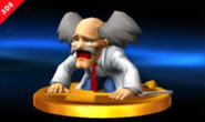 Mega Man Classic - Dr Wily as seen as a Trophy for Super Smash Bros