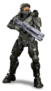Halo - Master Chief with Railgun
