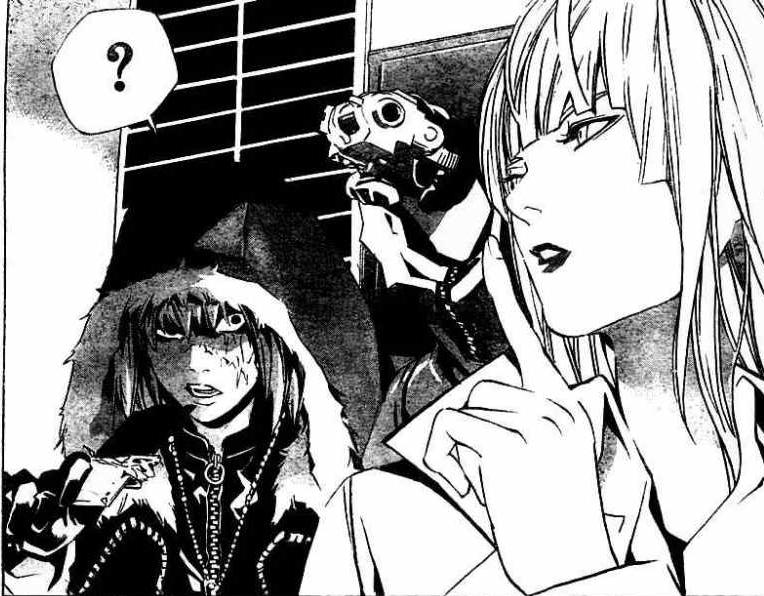 Plik:Linder confronts Mello.png | Death Note Wiki | Fandom ...