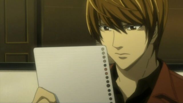File:Light Yagami & a piece of paper.jpg