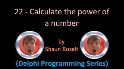 Delphi Programming Series 22 - Calculate the power of a number