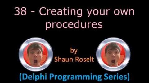 Delphi Programming Series 38 - Creating your own procedures