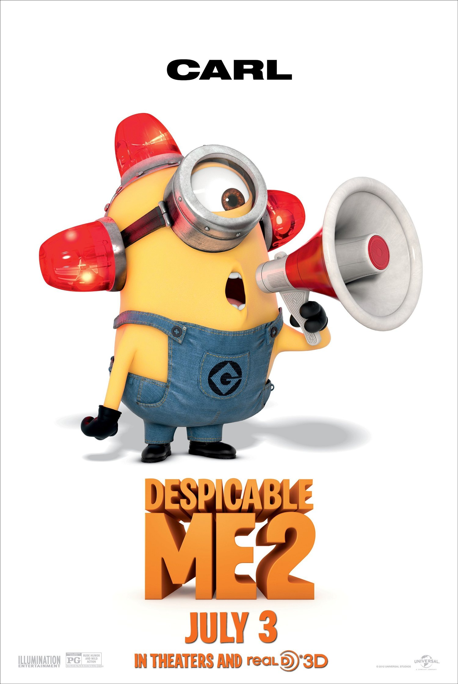 Image gru png despicable me wiki - Image Despicable Me 2 Carl The Minion Poster Jpg