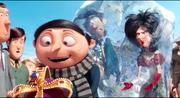 Gru, frozen Mr. and Mrs. Overkill