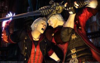 Dante-vs-Nero-the-sons-of-sparda