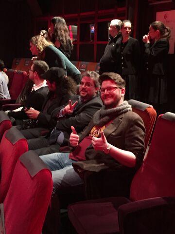 Datei:Wikianer in Paris Daredevil Screening 2.jpg