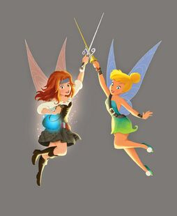 Tink and Zarina-disney fairy book