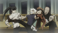 Allen fights Kanda Hallow