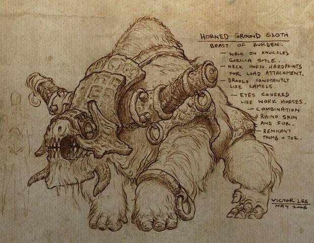 File:Horned Ground Sloth Artwork.jpg