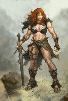 Fem barbarian