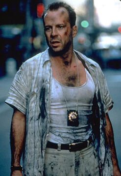 Die Hard with a Vengeance - McClane in wall street