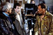 Jan de Bont on-set with John McTiernan and Bruce Willis- Die Hard 1