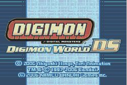 Digimon Title screen