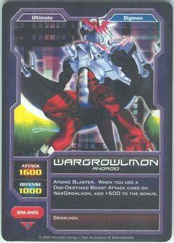 WarGrowlmon DM-205 (DC)