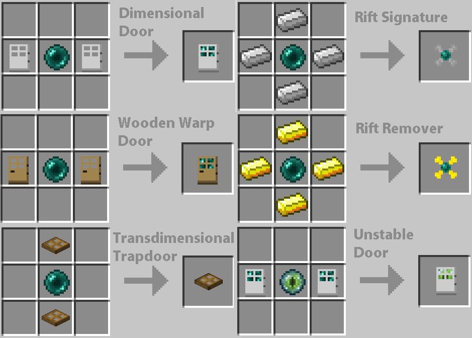Crafting Recipe For Door