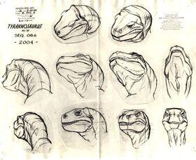 T-rex model sheet