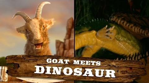 Dinosaur Walt Disney World Goat Friends WDW Best Day Ever