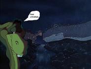 Dweeb's sad about Littlefoot's mom dies